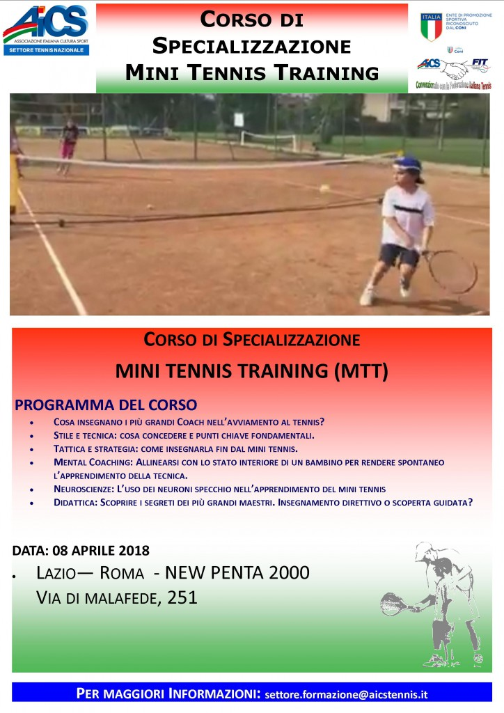 LOCANDINA MINI TENNIS TRAINING